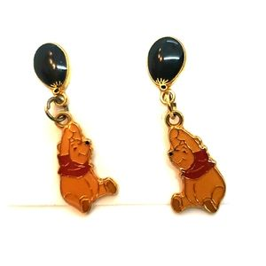 Disney Winnie the Pooh enamel post earrings new